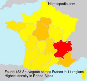 Surname Sauvageon in France