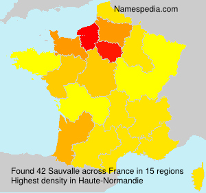 Surname Sauvalle in France