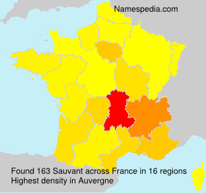 Surname Sauvant in France