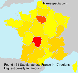Surname Sauviat in France