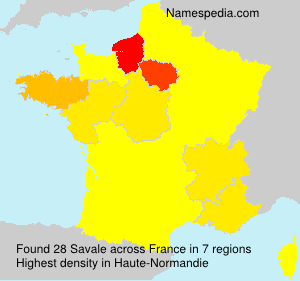 Surname Savale in France