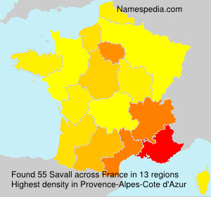 Surname Savall in France