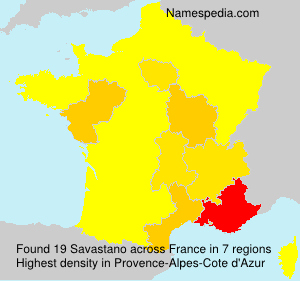 Surname Savastano in France
