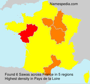 Surname Sawas in France
