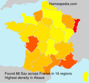Surname Sax in France