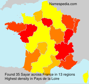 Surname Sayar in France