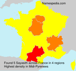 Surname Sayasith in France