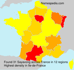 Surname Sayavong in France