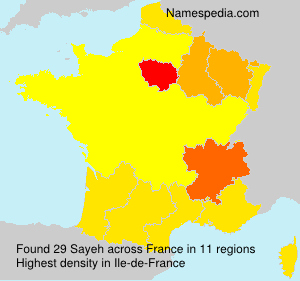 Surname Sayeh in France