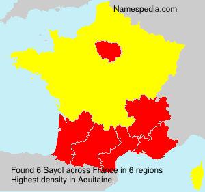Surname Sayol in France