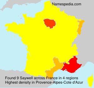 Surname Saywell in France