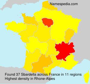 Familiennamen Sbardella - France