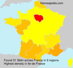 Surname Sbihi in France