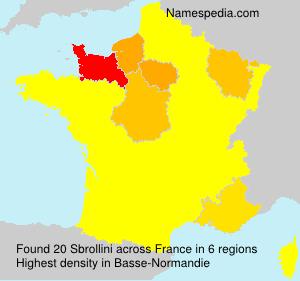Surname Sbrollini in France
