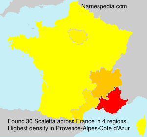 Surname Scaletta in France