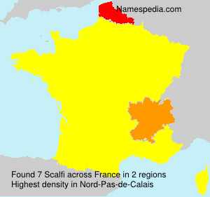 Surname Scalfi in France