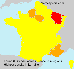 Surname Scandel in France
