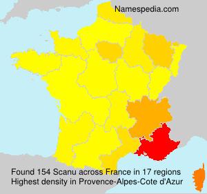 Surname Scanu in France