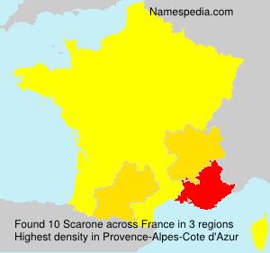Surname Scarone in France