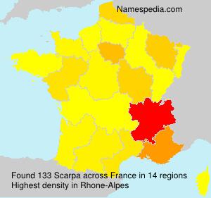 Surname Scarpa in France