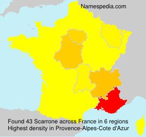 Familiennamen Scarrone - France
