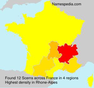 Familiennamen Scerra - France