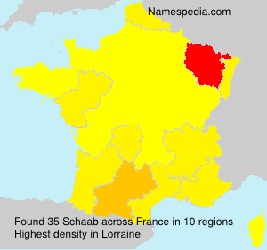 Surname Schaab in France
