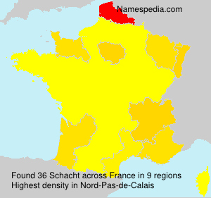 Surname Schacht in France