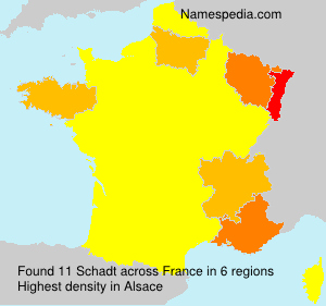 Surname Schadt in France