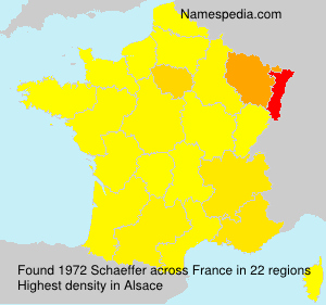 Surname Schaeffer in France