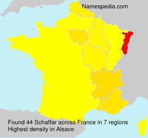 Familiennamen Schaffar - France