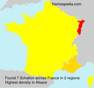 Surname Schallon in France