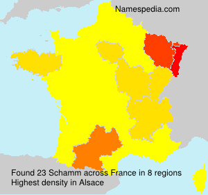 Surname Schamm in France