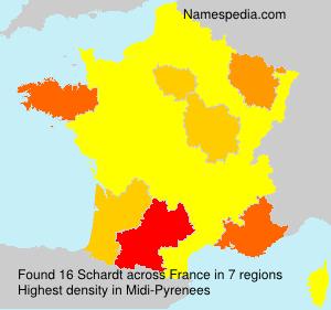 Surname Schardt in France