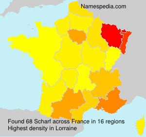Familiennamen Scharf - France