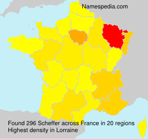 Surname Scheffer in France