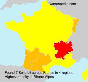 Familiennamen Scheibli - France