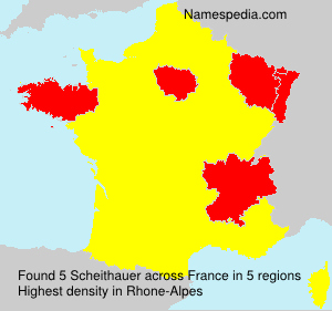 Surname Scheithauer in France