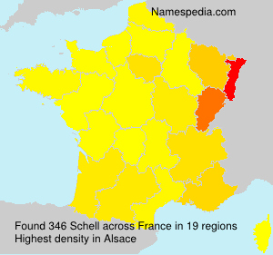 Surname Schell in France
