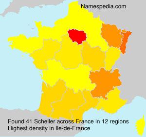 Surname Scheller in France