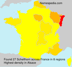 Surname Schellhorn in France