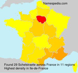 Familiennamen Schelstraete - France