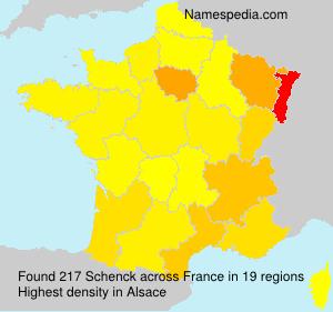 Surname Schenck in France