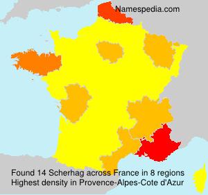Surname Scherhag in France