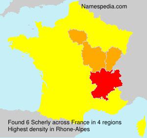 Familiennamen Scherly - France