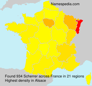 Surname Scherrer in France