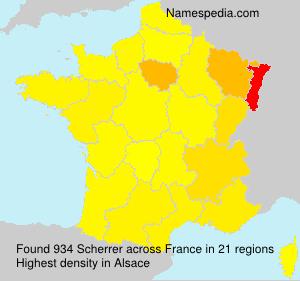 Surname Scherrer in France