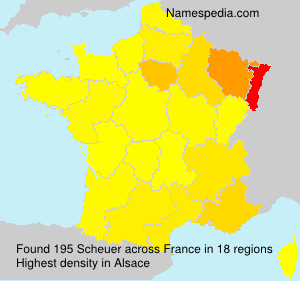 Surname Scheuer in France