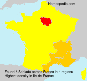 Surname Schiada in France