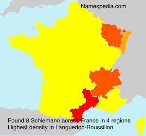 Surname Schiemann in France